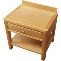 Solid Wood 1 Drawer Bedside Cabinet