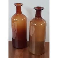 Used Pair of Ornamental Glass Jars