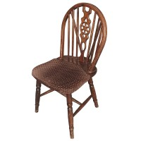 Used Brown Traditional Wheelback Chairs
