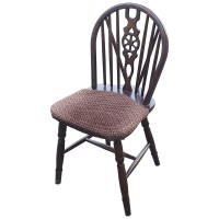 Used Patterned Traditional Wheelback Chairs