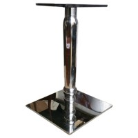 Square Polished Finish Table Base, Dining Height