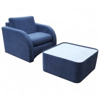 Blue Suede Effect Armchairs Chairs With Matching Glass Topped Coffee Table