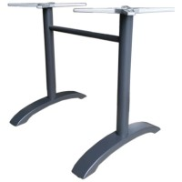 Twin Pedestal Dining Height Table Base