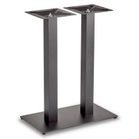 Trafalgar - Mid Height Rectangle Twin Table Base (Square Column)