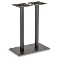 Trafalgar - Mid Height Rectangle Twin Table Base (Round Column)