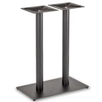 Trafalgar - Mid Height Rectangle Twin Table Base (Round Column)
