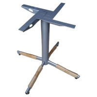 Grey 4 Leg Dining Height Table Base