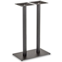Trafalgar - Poseur Height Rectangle Twin Table Base (Round Column)