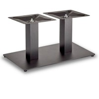 Trafalgar - Coffee Height Rectangle Twin Table Base (Square Column)