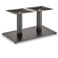 Trafalgar - Coffee Height Rectangle Twin Table Base (Round Column)