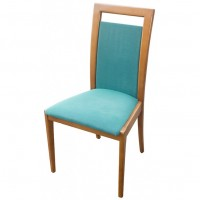 Dining Chair With Green Upholstery