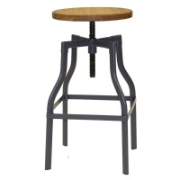 Industrial High Stool with Adjustable Height
