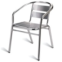 Outdoor Aluminium Arm Chair, Stackable