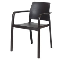 Anthracite Stackable Outdoor Armchair