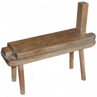 Antique Wooden Milking Stool