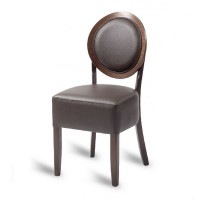 Hyde Louis Side Chair - Mocha