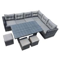 Athens Grey Rattan Sofa Set