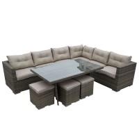 Athens Natural Rattan Sofa Set