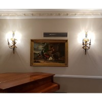 Ex Hotel Pair of Beaumont & Fletcher Regency Ornamental Wall Lights