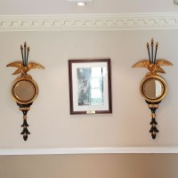 Ex Hotel Pair of Beaumont & Fletcher Trafalgar Ornamental Wall Mirrors