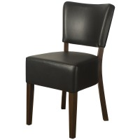 Belmont Black Faux Leather Restaurant Chairs