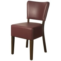 Belmont Wine Faux Leather Side Chair