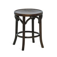 Bentwood Low Stool - Walnut