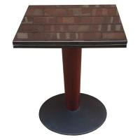 Dining Height Table with Black Marble Top