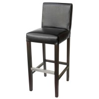 Black Covent Bar Stool With Back