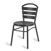 Paphos Outdoor Black Wood Effect Side Chair