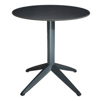 Braga Outdoor Table Fliptop - Anthracite 70cm Round