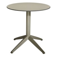 Braga Outdoor Table Fliptop - Taupe 70cm Round