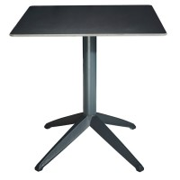 Braga Outdoor Table Fliptop - Anthracite 70cm Square