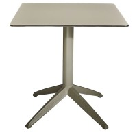 Braga Outdoor Table Fliptop - Taupe 70cm Square