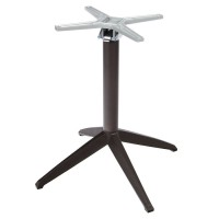 Braga Anthracite Flip Top Dining Height Table Base - Outdoor
