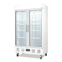 Polar Upright Double Door Display Fridge 944Ltr White