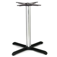 Black Samson B5 Chrome Column Dining Height Table Base Large