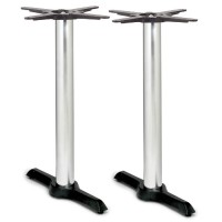 Samson B4 Chrome Column Table Base - Dining Height Twin