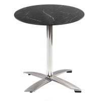 Black Marble Table with Alu Flip-top Base - Outdoor