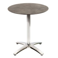 Cement Marble Table with Aluminium Base - Outdoor