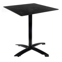 Black Marble Table with Black Alu Flip-top Base - Outdoor