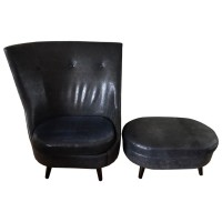 Modern Contemporary Chair with Footstool