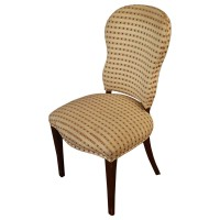 Used Cream Upholstered Side Chair