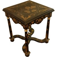 Ex Hotel Decorative Black and Gold Table