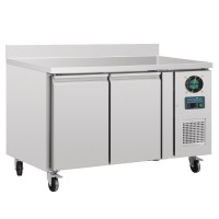 Polar 2 Door Counter Freezer with Upstand 282Ltr