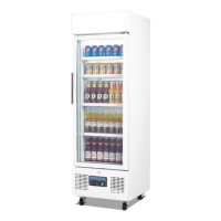 Polar Upright Display Fridge 218Ltr White