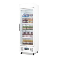 Polar Upright Display Fridge 336Ltr White