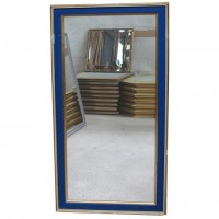 Blue and Gold Framed Mirror