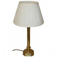 Decorative Brass Style Lamp With Luxury Silk Shade