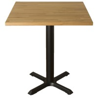 Ex Display Solid Wood Table - Natural Beech, with New Samson B1 Base